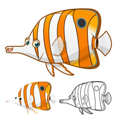 Copperband Butterfly Fish vector image