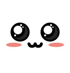Cute kawaii beautiful eyes and adorable expression vector