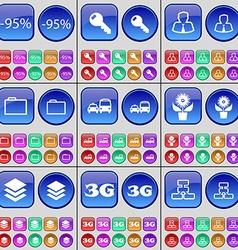 Discount key avatar folder transport flower vector