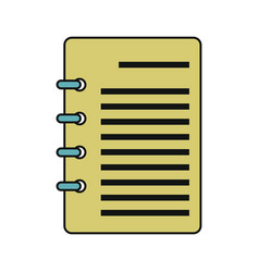document icon isolated on a white background vector image vector image