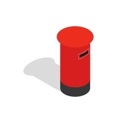 English inbox icon isometric 3d style vector