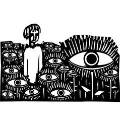 Field of Eyes vector image