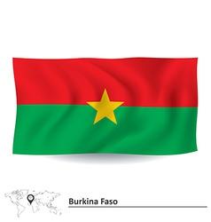 Flag of burkina faso vector