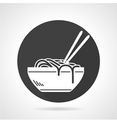 Flat icon noodles vector
