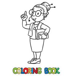 funny translator or interpreter coloring book vector image