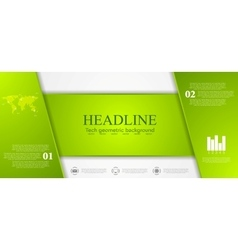 Green tech corporate banner design vector