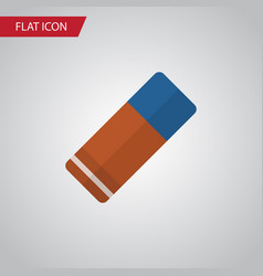 isolated eraser flat icon rubber element vector image