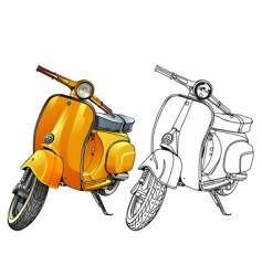 old vespa vector image