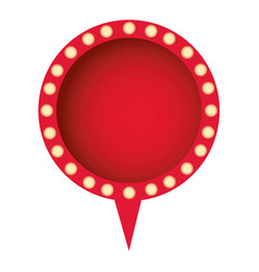 Red chat circle bubble icon vector