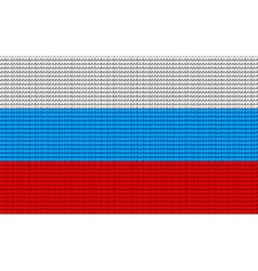 Russia flag embroidery design pattern vector
