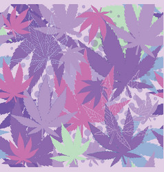 Texture with cannabis vector