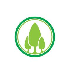 Tree landscapes nature logo design vector