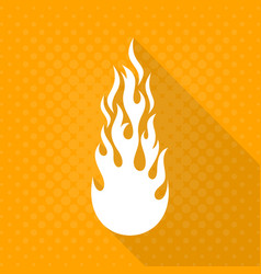White fire flame icon vector