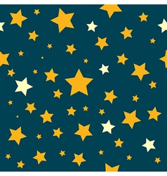 Yellow stars teal sky pattern vector