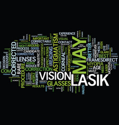 Your eye surgery report is lasik right for you vector