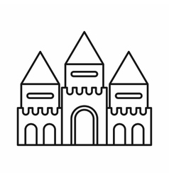 Fairy tale castle icon outline style vector