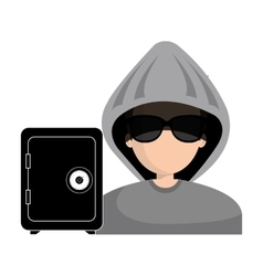 Avatar hacker criminal vector