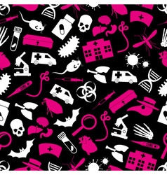 Plague and disease theme simple seamless pattern vector