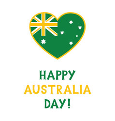 Australia day card with a heart vector