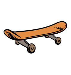 Skateboard icon cartoon vector
