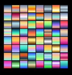 Set multicolored gradients vector