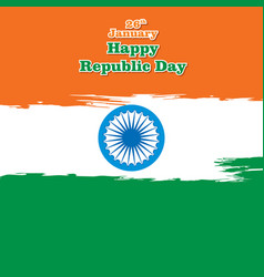 happy indian republic day design vector image