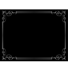 Vintage frame on a black background vector