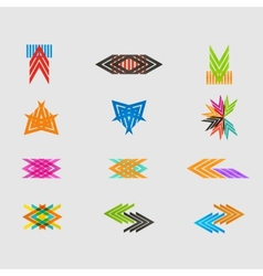 Arrow sign icon set design eps10 vector