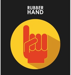 Rubber hand vector
