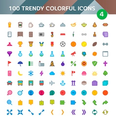 100 universal icons set 4 vector