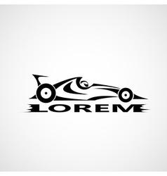 Formula 1 car vector image