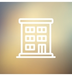Residential building thin line icon vector