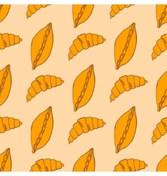 Pattern with bread vector