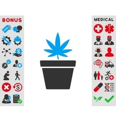 Cannabis pot icon vector