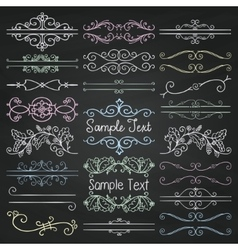 Colorful chalk drawing dividers frames vector