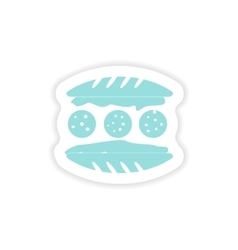 Paper sticker on white background american vector
