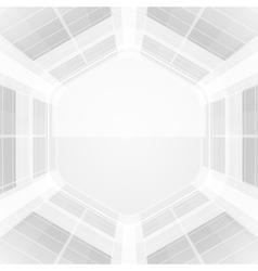 Abstract hexagonal wire vector