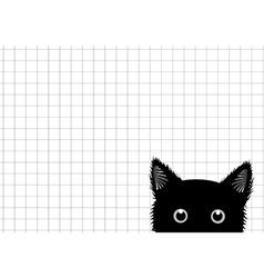 Black cat grid background vector