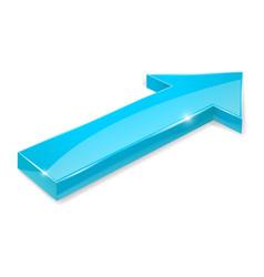 blue arrow shiny 3d icon vector image