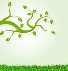 Cute spring background sample vector