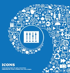 Equalizer icon Nice set of beautiful icons vector image