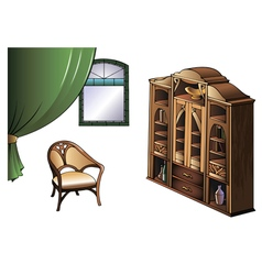 Furniture of Modern Art style vector image vector image