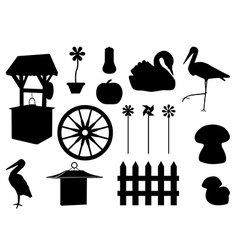 Garden decorations vector image vector image