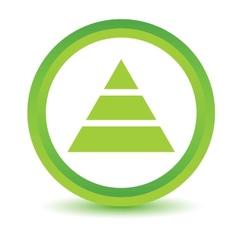 Green pyramid icon vector