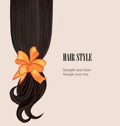 hair style beauty salon poster with curly black vector image