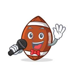 Karaoke american football character cartoon vector