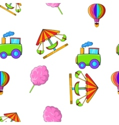 Kids games pattern cartoon style vector