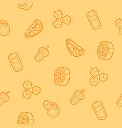 Lemonade outline isometric pattern vector