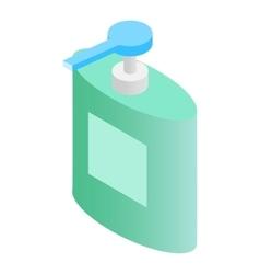 Liquid soap dispenser isometric 3d icon vector
