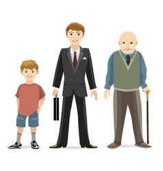 Man age progress vector